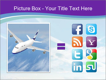 Aircraft in the sky PowerPoint Templates - Slide 21