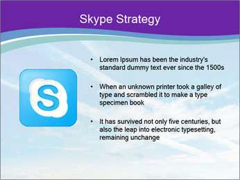 Aircraft in the sky PowerPoint Templates - Slide 8