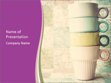 Vintage cups PowerPoint Templates