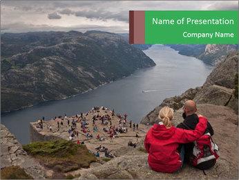Preikestolen rock PowerPoint Template - Slide 1