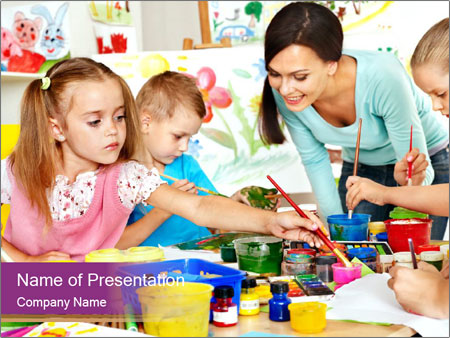 Happy children PowerPoint Templates