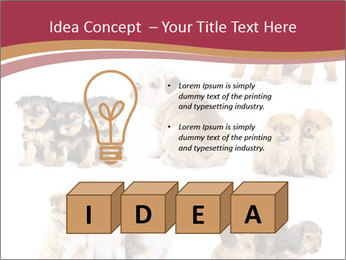 Group of Puppies PowerPoint Template - Slide 80