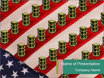 Oil Production PowerPoint Template - Slide 1
