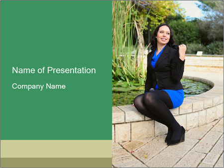 Young woman PowerPoint Template
