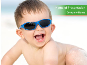 Cheerful baby PowerPoint Templates - Slide 1