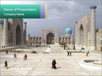 Uzbekistan PowerPoint Template - Slide 1
