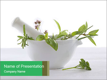 Medicinal Virtues PowerPoint Template - Slide 1