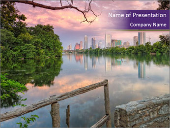 Downtown Austin PowerPoint Template