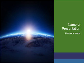 Earth NASA PowerPoint Templates - Slide 1