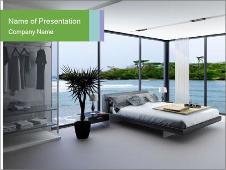 Ultramodern bedroom PowerPoint Template