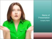 Shocked girl PowerPoint Template