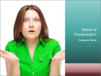Shocked girl PowerPoint Template - Slide 1
