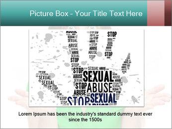 Shocked girl PowerPoint Template - Slide 16