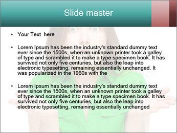 Shocked girl PowerPoint Template - Slide 2