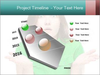 Shocked girl PowerPoint Template - Slide 26