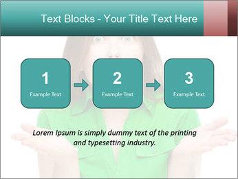 Shocked girl PowerPoint Template - Slide 71