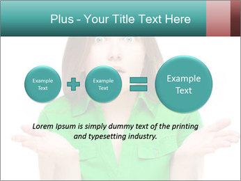 Shocked girl PowerPoint Template - Slide 75
