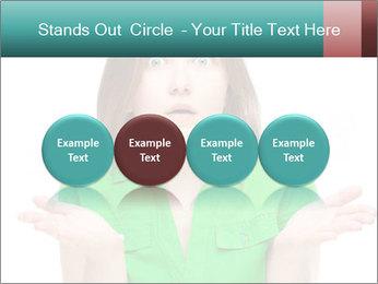 Shocked girl PowerPoint Template - Slide 76