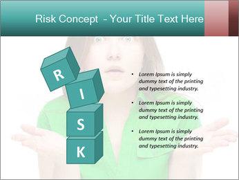 Shocked girl PowerPoint Template - Slide 81