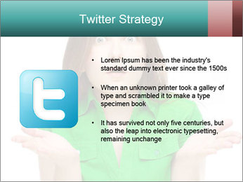 Shocked girl PowerPoint Template - Slide 9
