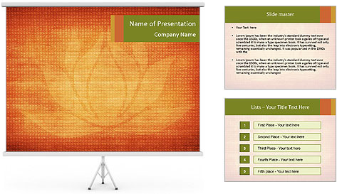 Texture with lotus flower PowerPoint Template