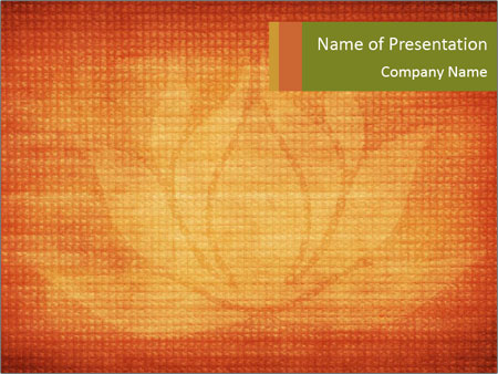 Texture with lotus flower PowerPoint Templates