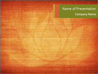 Texture with lotus flower PowerPoint Templates - Slide 1