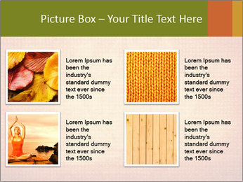 Texture with lotus flower PowerPoint Templates - Slide 14