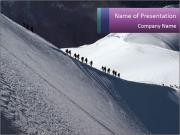 Snowy path PowerPoint Templates