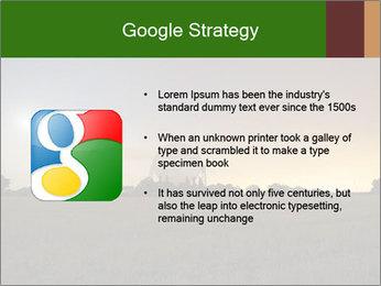 Satellite dish at nigh PowerPoint Template - Slide 10
