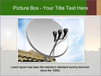 Satellite dish at nigh PowerPoint Templates - Slide 16