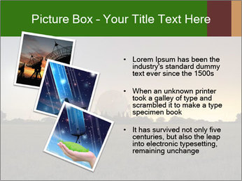 Satellite dish at nigh PowerPoint Templates - Slide 17
