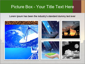 Satellite dish at nigh PowerPoint Templates - Slide 19