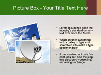 Satellite dish at nigh PowerPoint Templates - Slide 20