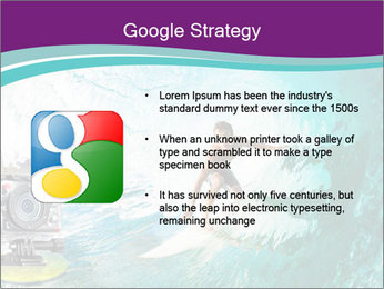 Surfer on Blue Ocean PowerPoint Templates - Slide 10