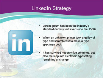 Surfer on Blue Ocean PowerPoint Templates - Slide 12