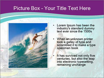 Surfer on Blue Ocean PowerPoint Templates - Slide 13