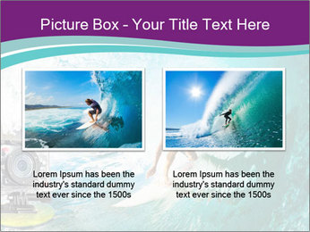 Surfer on Blue Ocean PowerPoint Templates - Slide 18