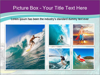 Surfer on Blue Ocean PowerPoint Templates - Slide 19