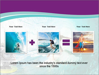 Surfer on Blue Ocean PowerPoint Templates - Slide 22