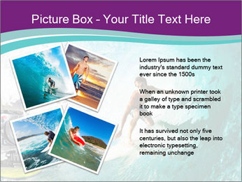 Surfer on Blue Ocean PowerPoint Templates - Slide 23