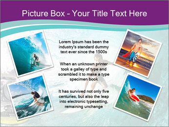 Surfer on Blue Ocean PowerPoint Templates - Slide 24