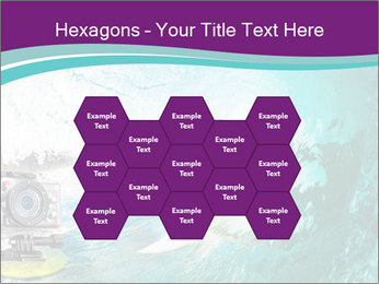 Surfer on Blue Ocean PowerPoint Templates - Slide 44