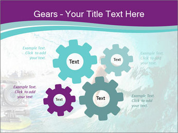 Surfer on Blue Ocean PowerPoint Templates - Slide 47