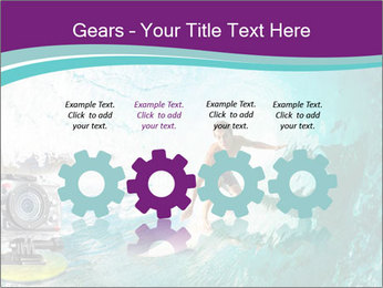 Surfer on Blue Ocean PowerPoint Templates - Slide 48