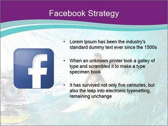 Surfer on Blue Ocean PowerPoint Templates - Slide 6