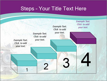 Surfer on Blue Ocean PowerPoint Templates - Slide 64