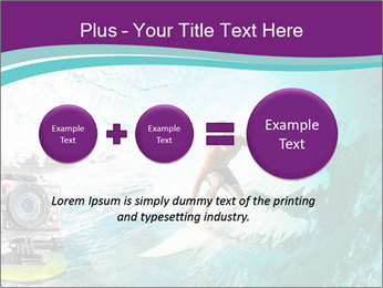 Surfer on Blue Ocean PowerPoint Templates - Slide 75