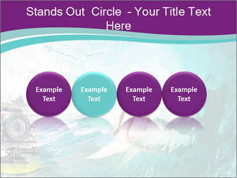 Surfer on Blue Ocean PowerPoint Templates - Slide 76