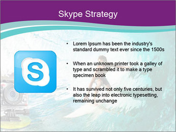 Surfer on Blue Ocean PowerPoint Templates - Slide 8